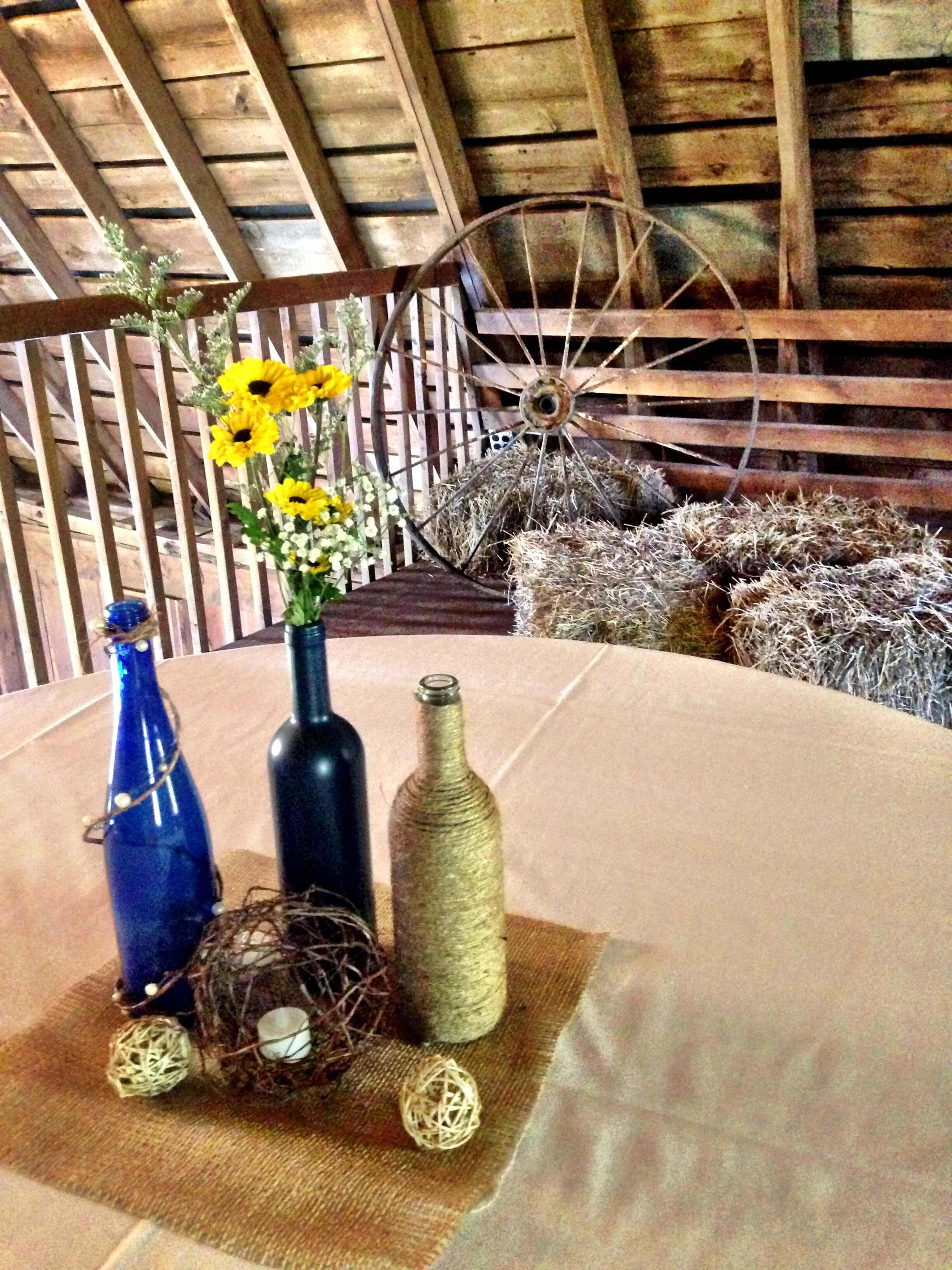 barn table decor