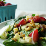 Why Large Farms Are Smaller Than You Think {Strawberry Spinach Salad}